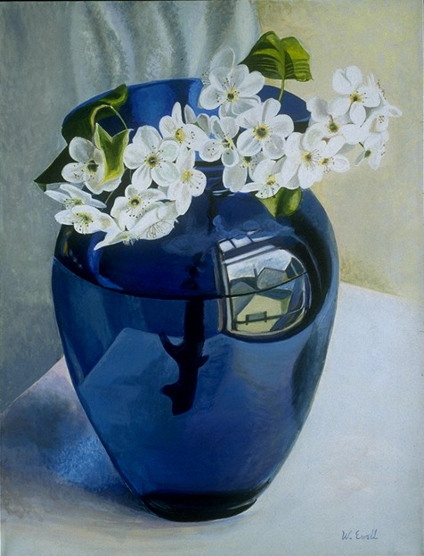 Apple Blossom in a Blue Vase